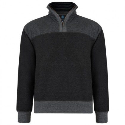 KAM Casual Zip Up Jumper