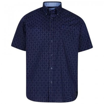 KAM Short Sleeve Patriot Blue Pattern Shirt