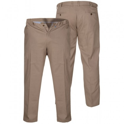 BRUNO STONE- D555 Stretch Chino Pant With Extenda Waist Length 30'' (Available from Size 42 to 58)