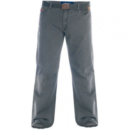Duke London Original Fit Zip Fly Enzyme Washed Bedford Cord With Belt. Leg Length 32'' (Available from Size 56 to 58)