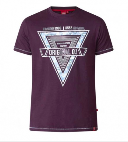 Duke Gary Tshirt Dark Plum
